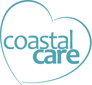 Coastal Care heart logo in teal
